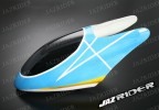 Glass Fibre Canopy (Blue w/ White Stripe and Yellow with White) parts For Align Trex T-rex 450SE V2 - Jazrider Brand [JR-HAG-TX450-113]
