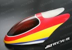 Glass Fibre Canopy (Red w/ Yellow, Blue and White) parts For Align Trex T-rex 450SE V2 - Jazrider Brand [JR-HAG-TX450-115]