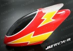 Glass Fibre Canopy (Red w/ Yellow lightning Stripe) parts For Align Trex T-rex 450SE V2 - Jazrider Brand [JR-HAG-TX450-121]