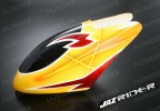 Glass Fibre Canopy (Yellow w/ Deep Red Lightning Stripe) parts For Align Trex T-rex 450SE V2 - Jazrider Brand [JR-HAG-TX450-123]