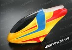 Glass Fibre Canopy (Yellow w/ Blue and Red Stripe) parts For Align Trex T-rex 450SE V2 - Jazrider Brand [JR-HAG-TX450-124]