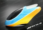 Glass Fibre Canopy (Blue w/ Yellow, Black and White) parts For Align Trex T-rex 450SE V2 - Jazrider Brand [JR-HAG-TX450-125]