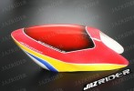 Glass Fibre Canopy (Red w/ Yellow and Blue) For Align T-rex TRex 500 parts - Jazrider Brand [JR-HAG-TX500-051]