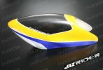 Glass Fibre Canopy (Yellow w/ Blue and White) For Align T-rex TRex 500 parts - Jazrider Brand [JR-HAG-TX500-052]