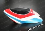 Glass Fibre Canopy (Red w/ White and Blue) For Align T-rex TRex 500 parts - Jazrider Brand [JR-HAG-TX500-055]